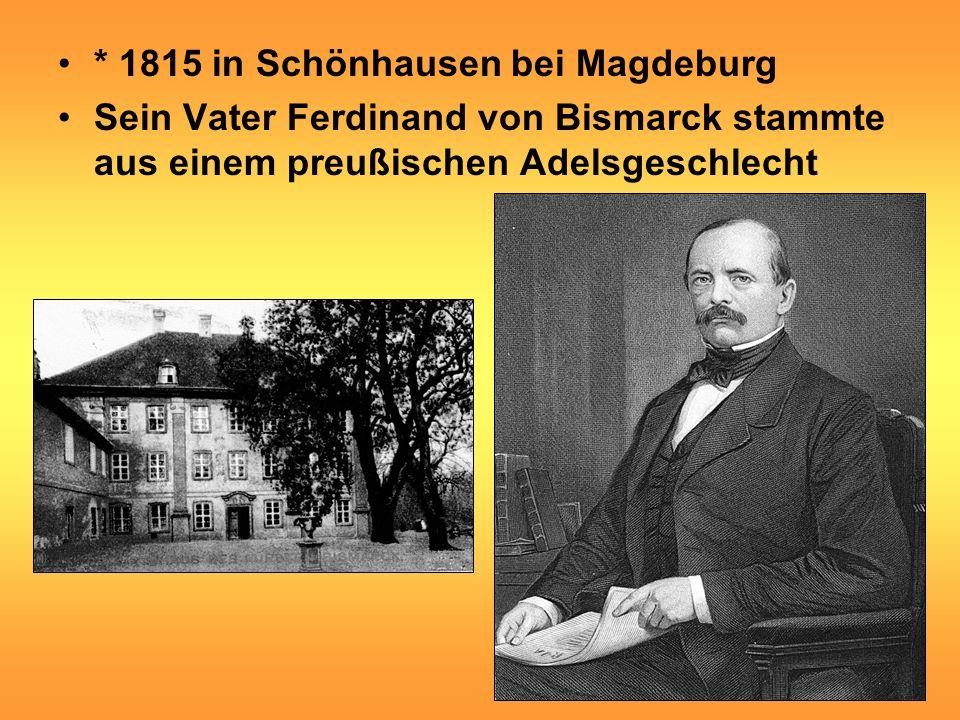 * 1815 in Schönhausen bei Magdeburg