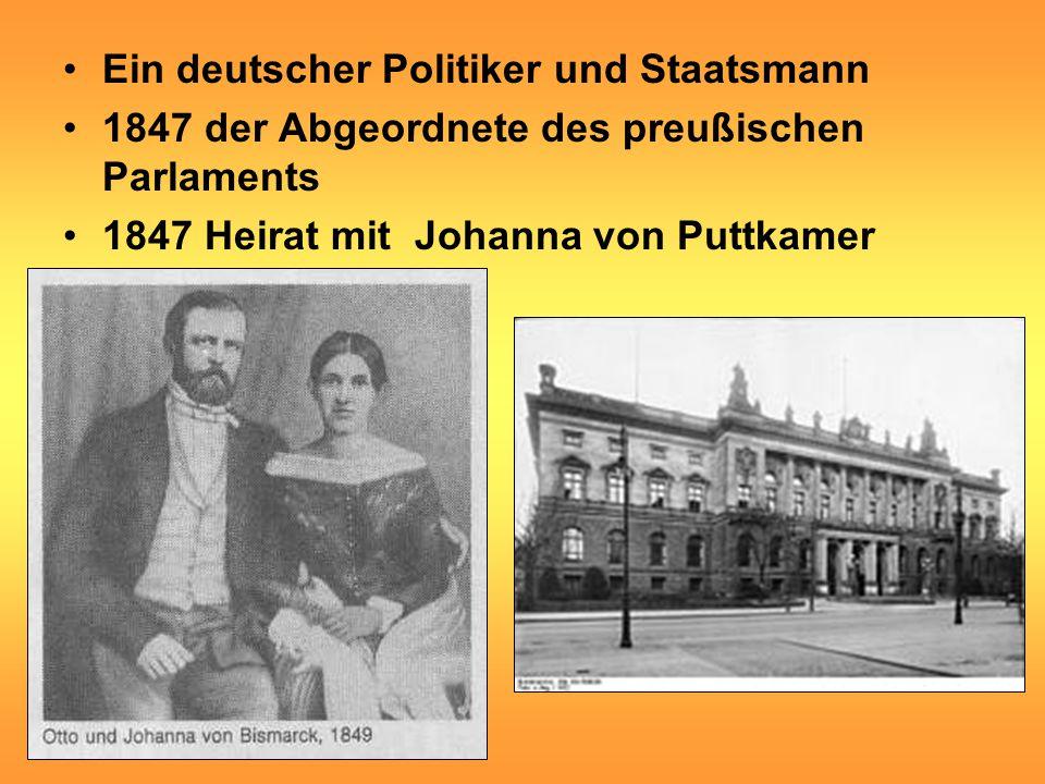 Ein deutscher Politiker und Staatsmann