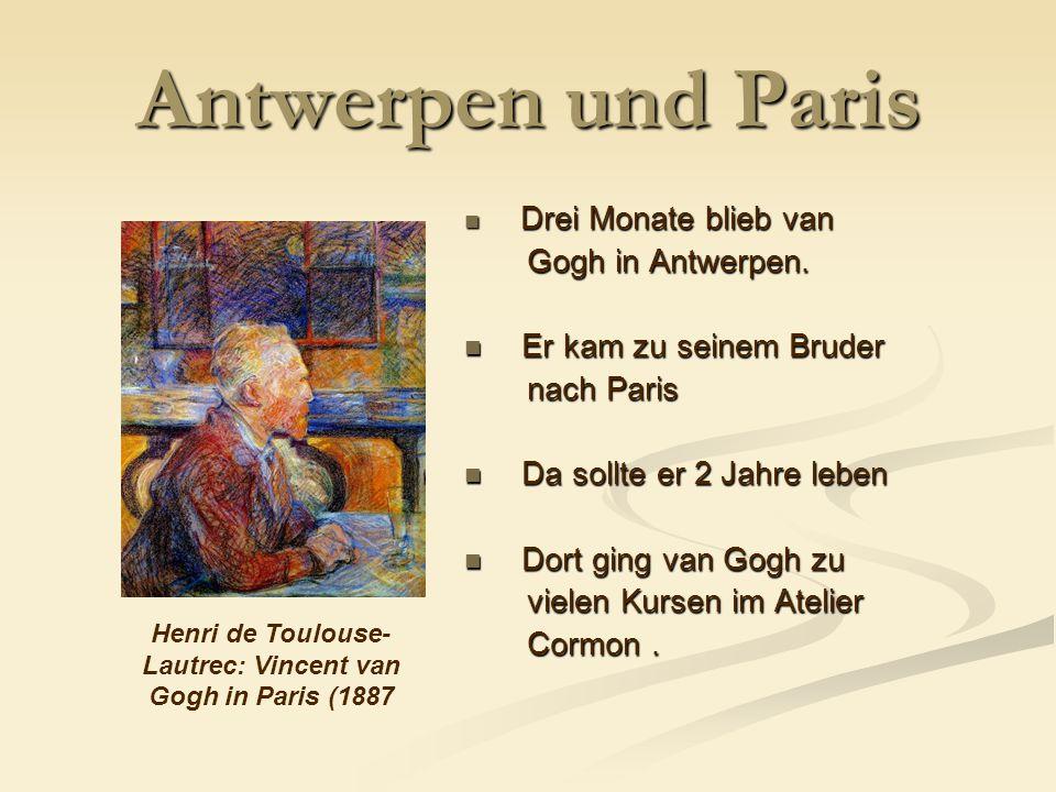 Henri de Toulouse-Lautrec: Vincent van Gogh in Paris (1887