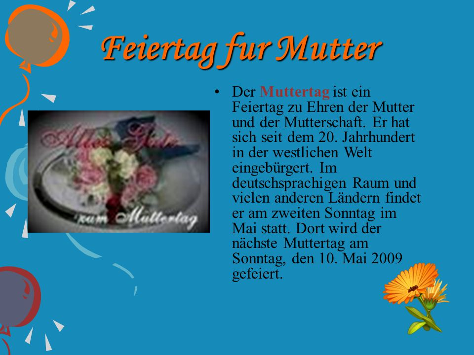 Feiertag fur Mutter