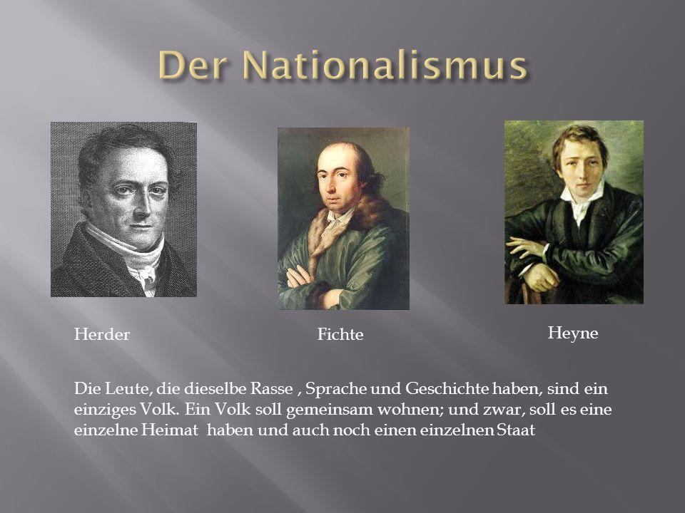 Der Nationalismus Herder Fichte Heyne