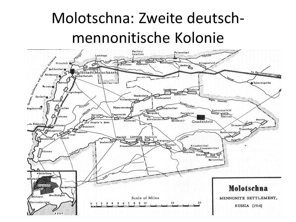 Molotschna: Zweite deutsch-mennonitische Kolonie