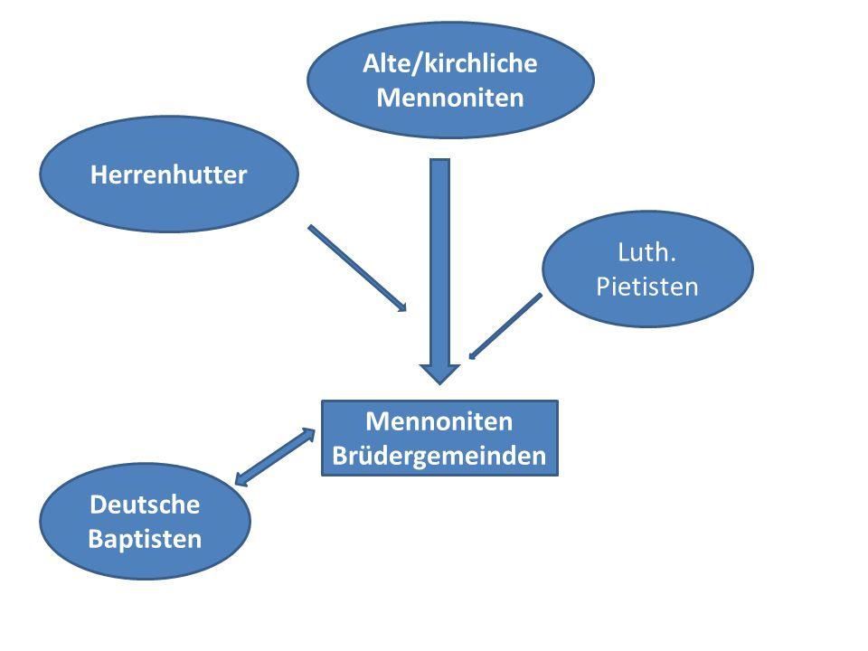 Alte/kirchliche Mennoniten Mennoniten Brüdergemeinden