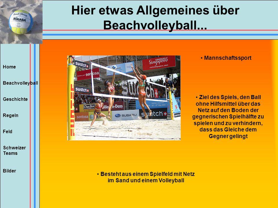 Hier etwas Allgemeines über Beachvolleyball...
