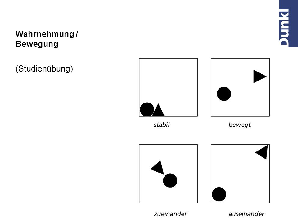 Wahrnehmung / Bewegung (Studienübung)