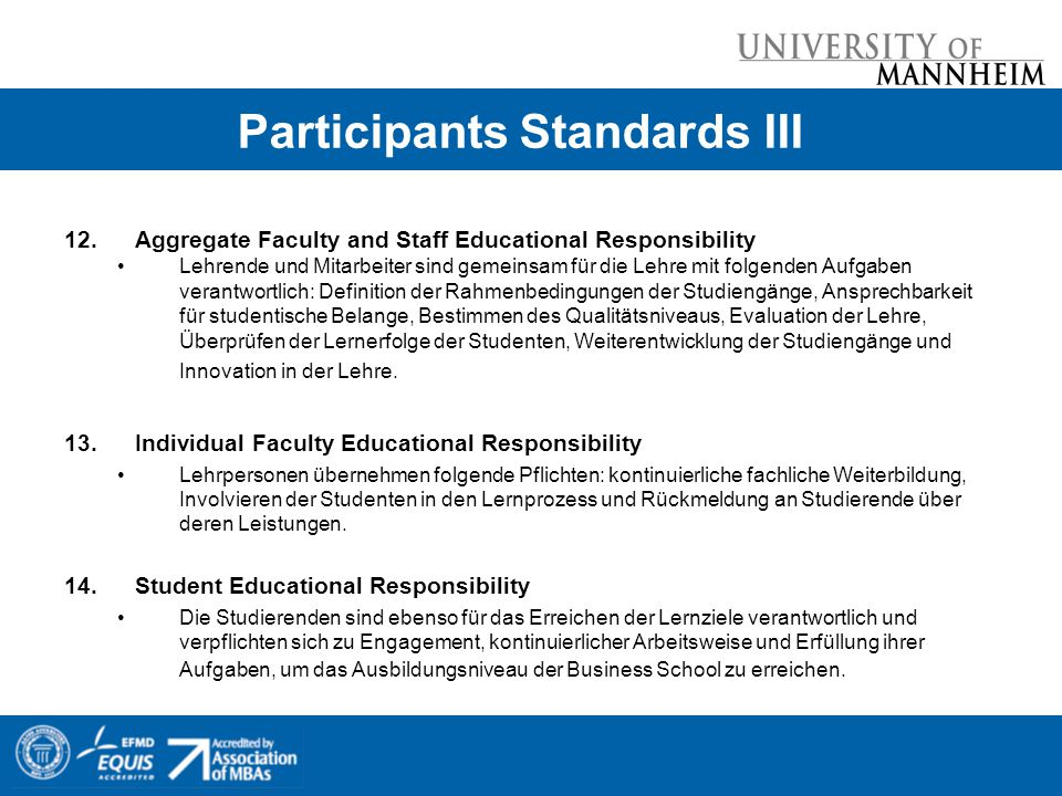 Participants Standards III