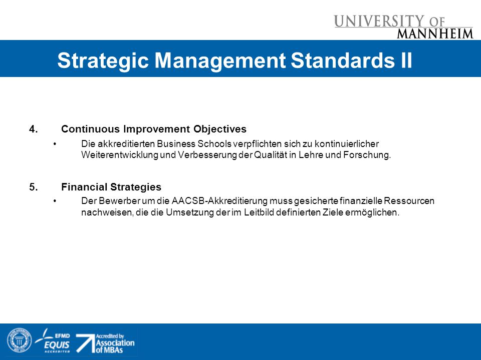 Strategic Management Standards II