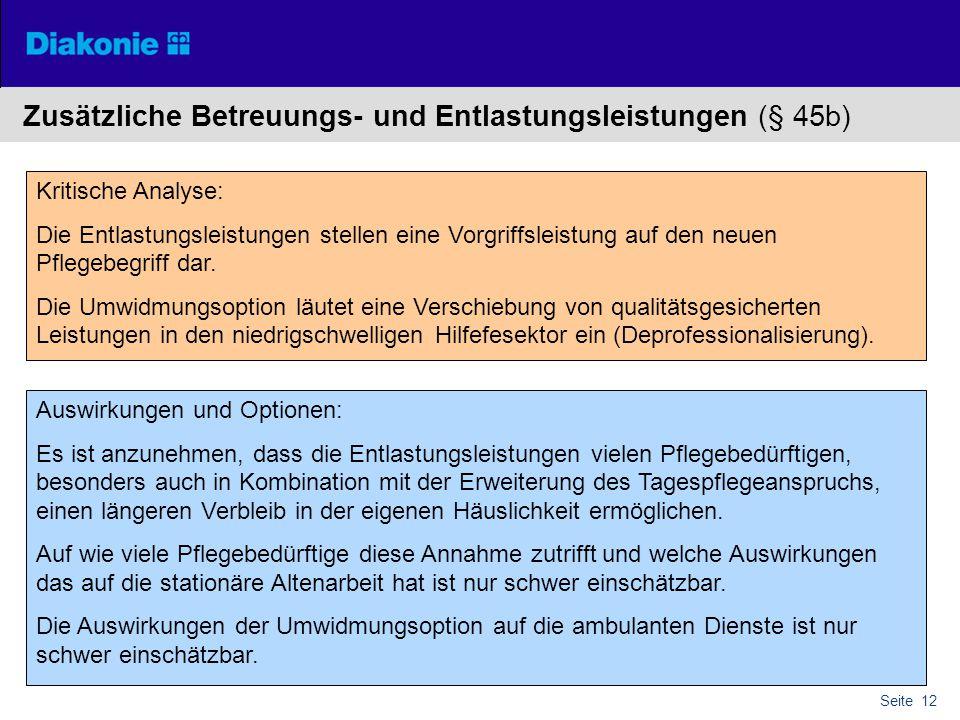 Zusätzliche Betreuungs- und Entlastungsleistungen (§ 45b)