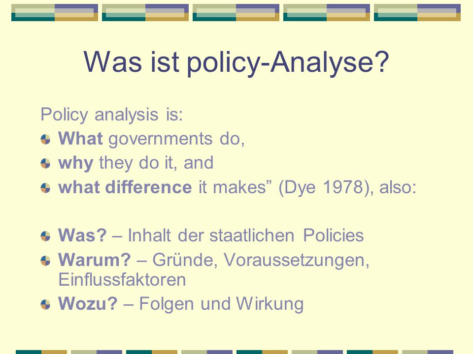 Was ist policy-Analyse
