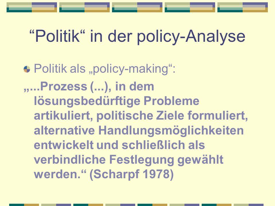 Politik in der policy-Analyse