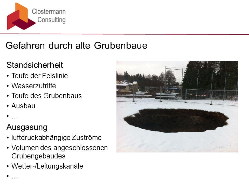 Gefahren durch alte Grubenbaue
