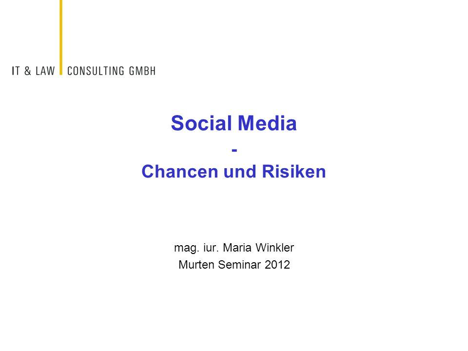 Social Media - Chancen und Risiken