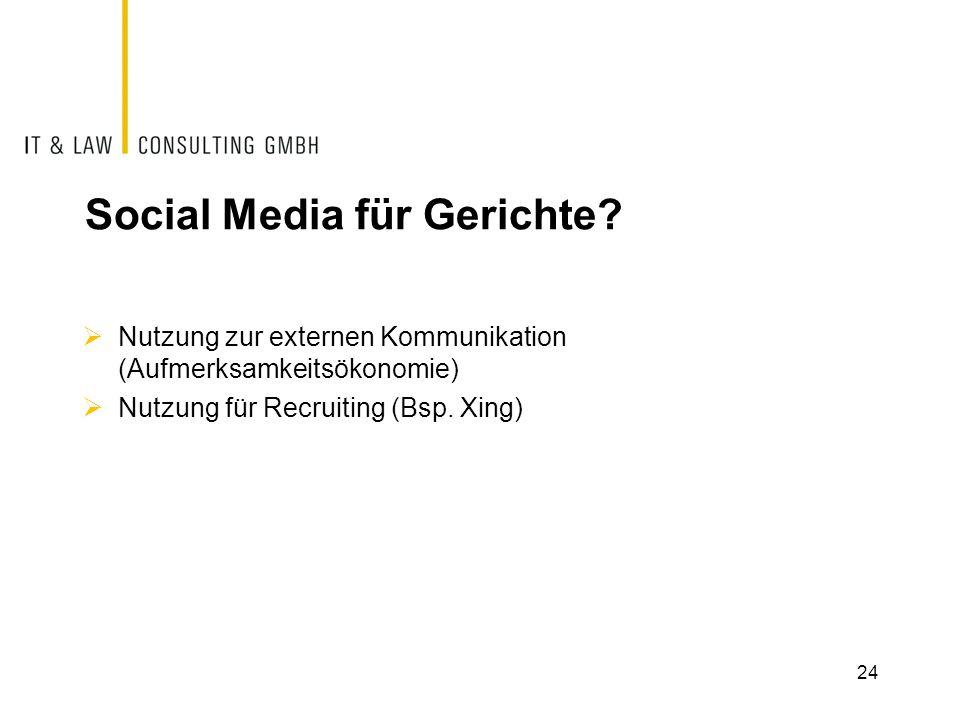 Social Media für Gerichte