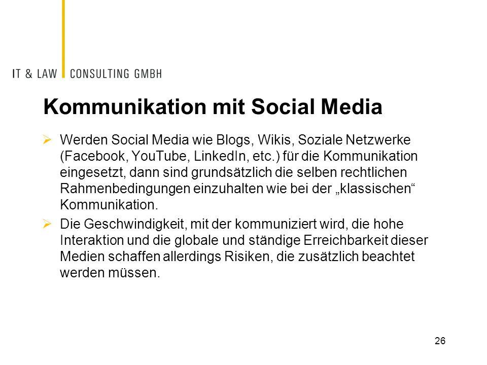 Kommunikation mit Social Media