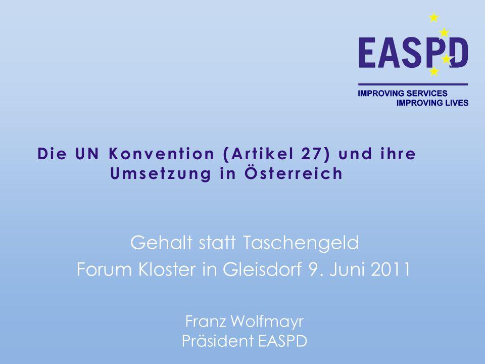 Die UN Konvention (Artikel 27) und ihre Umsetzung in Österreich