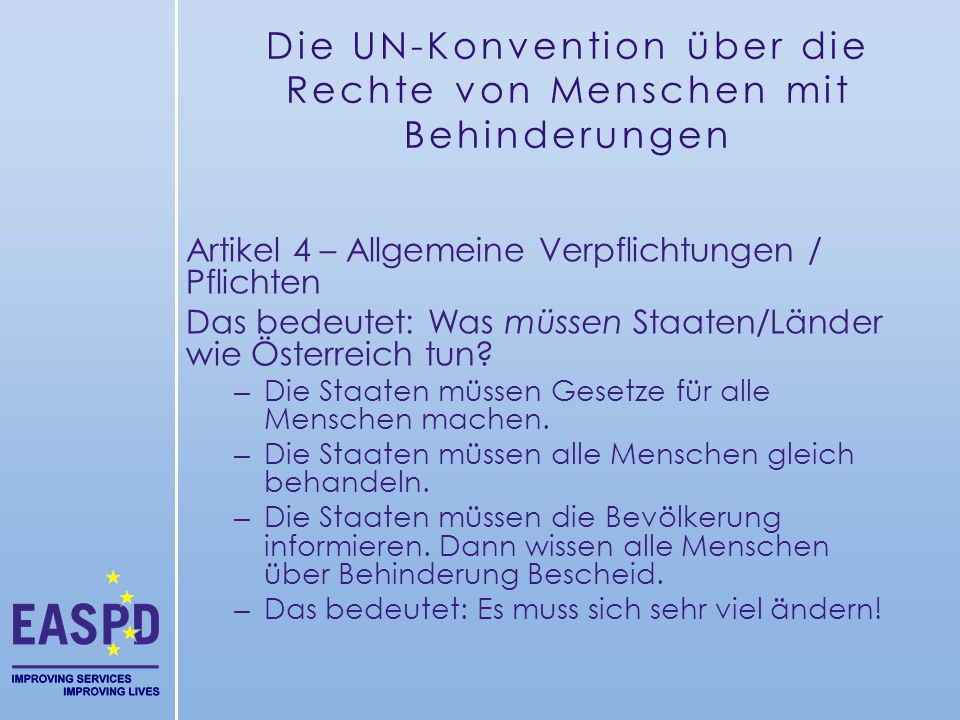 Die UN-Konvention über die Rechte von Menschen mit Behinderungen
