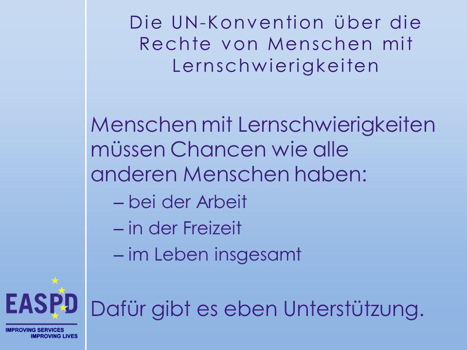 Die UN-Konvention über die Rechte von Menschen mit Lernschwierigkeiten