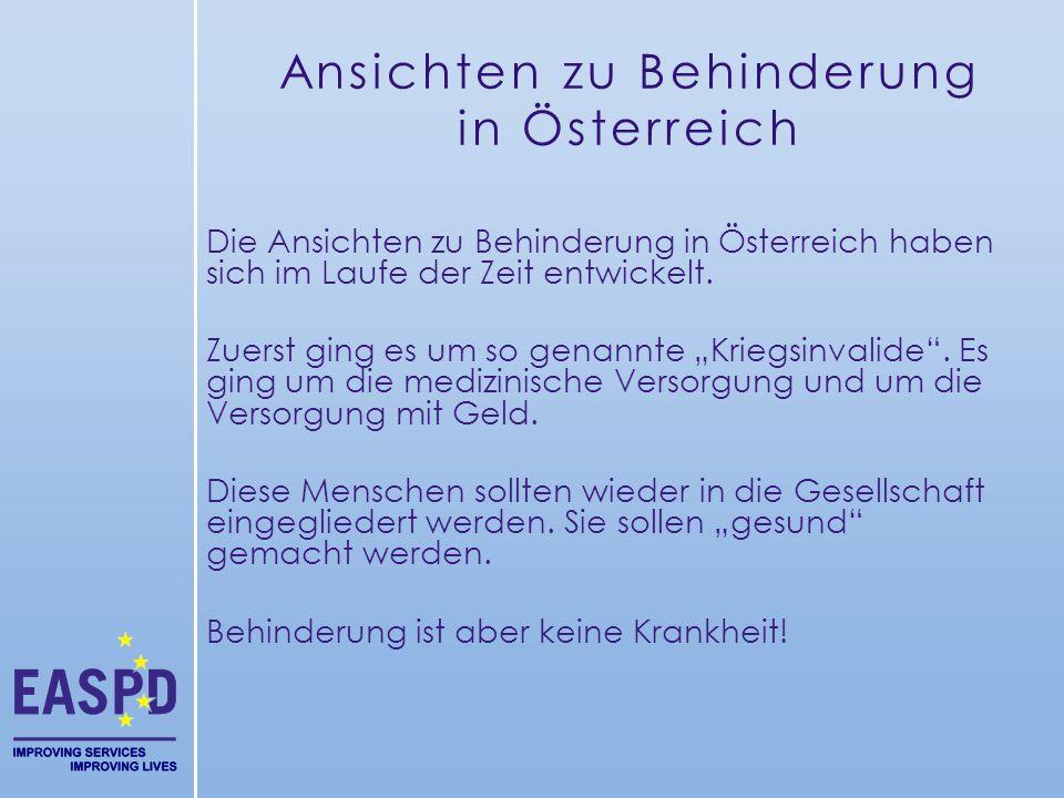 Ansichten zu Behinderung in Österreich