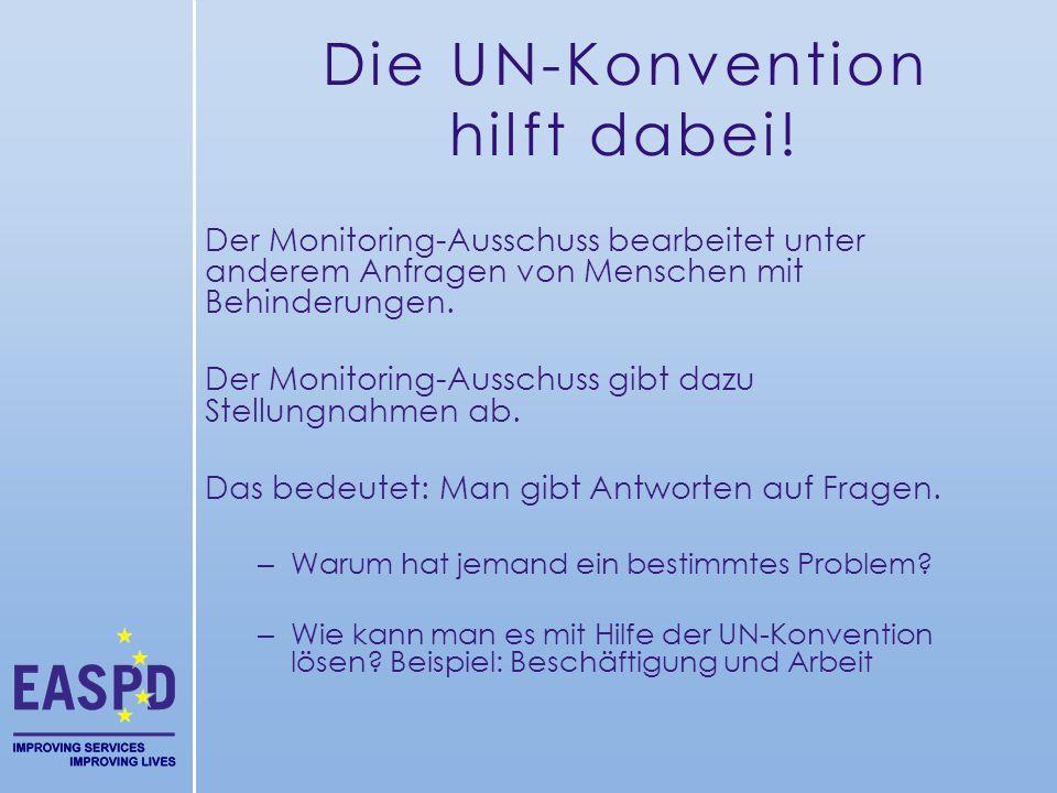 Die UN-Konvention hilft dabei!
