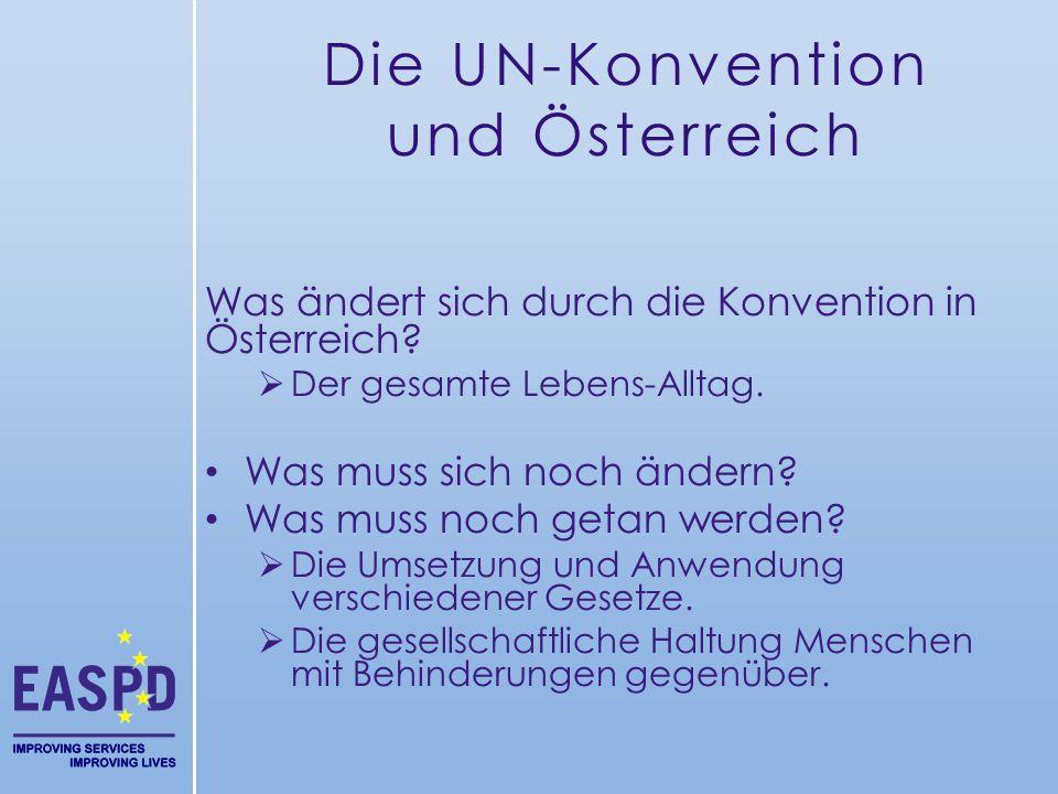 Die UN-Konvention und Österreich
