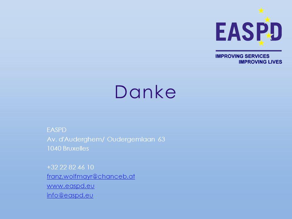 Danke EASPD Av. d Auderghem/ Oudergemlaan 63 1040 Bruxelles