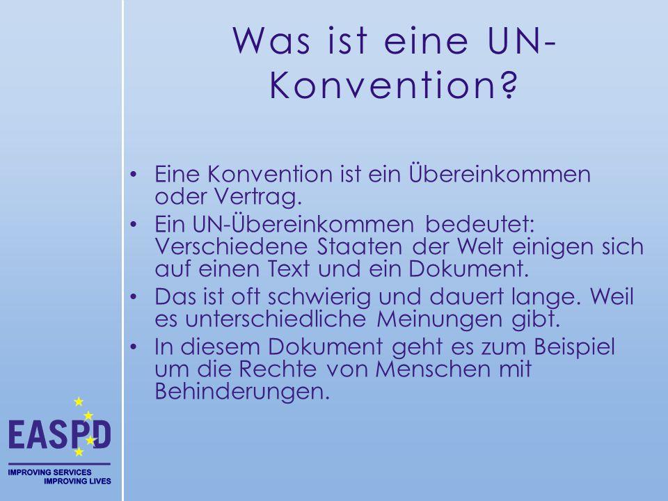 Was ist eine UN-Konvention