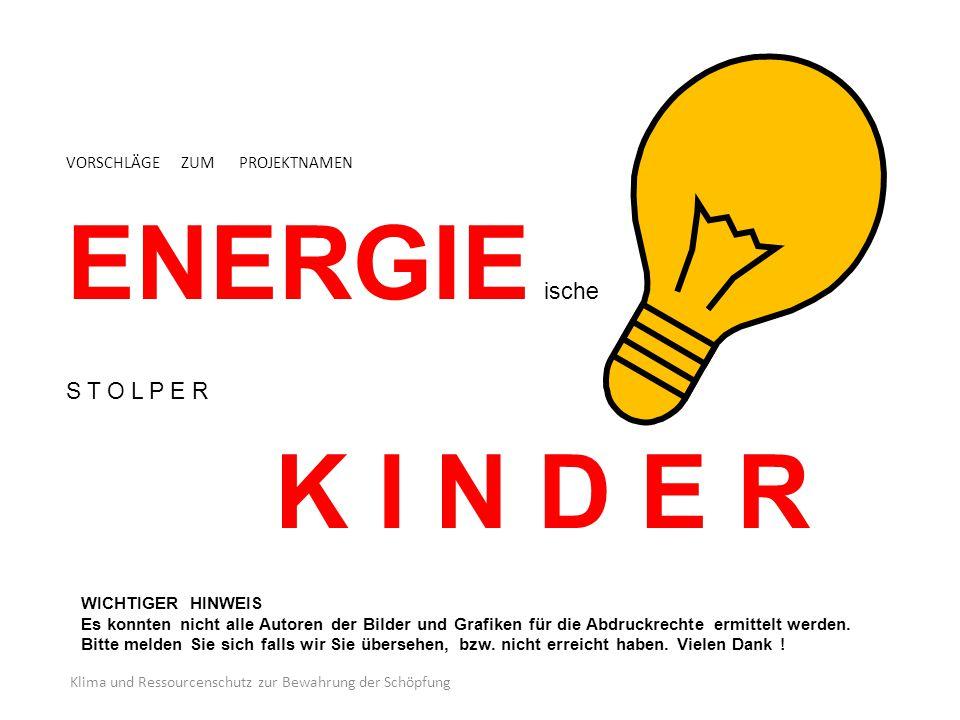 VORSCHLÄGE ZUM PROJEKTNAMEN ENERGIE ische S T O L P E R K I N D E R