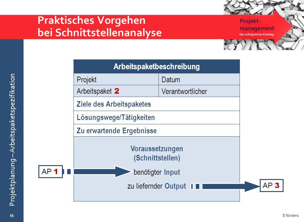 Praktisches Vorgehen bei Schnittstellenanalyse