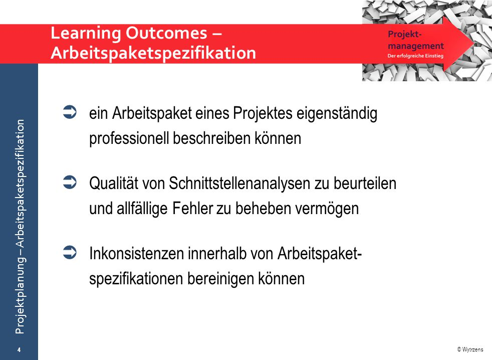 Learning Outcomes – Arbeitspaketspezifikation