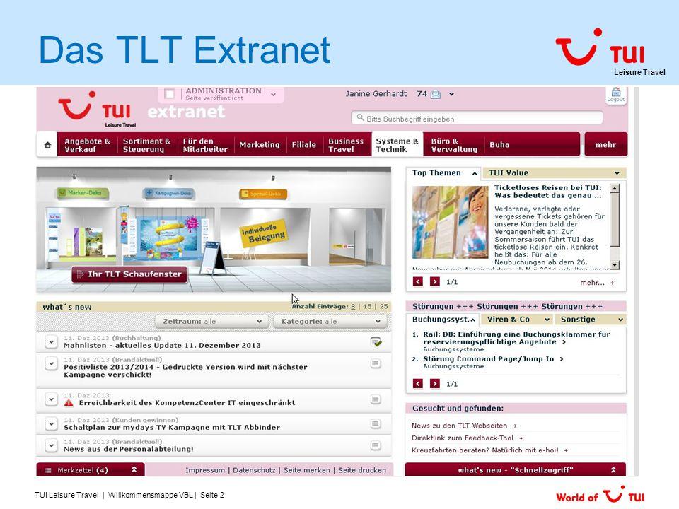 Das TLT Extranet