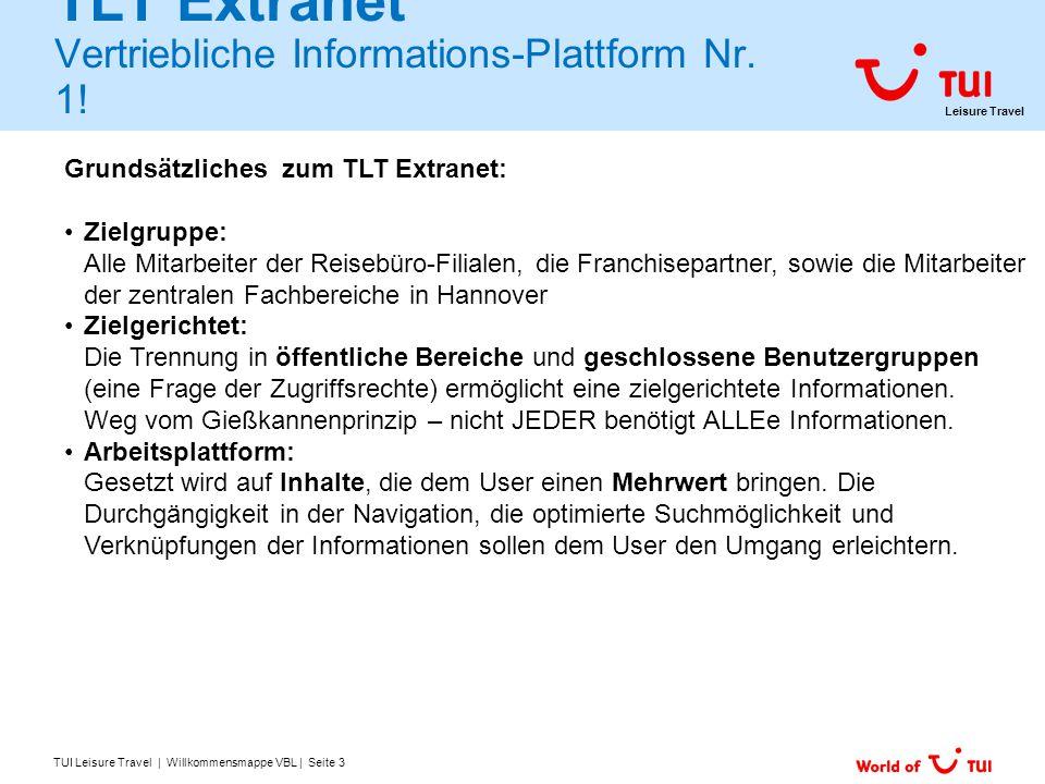 TLT Extranet Vertriebliche Informations-Plattform Nr. 1!