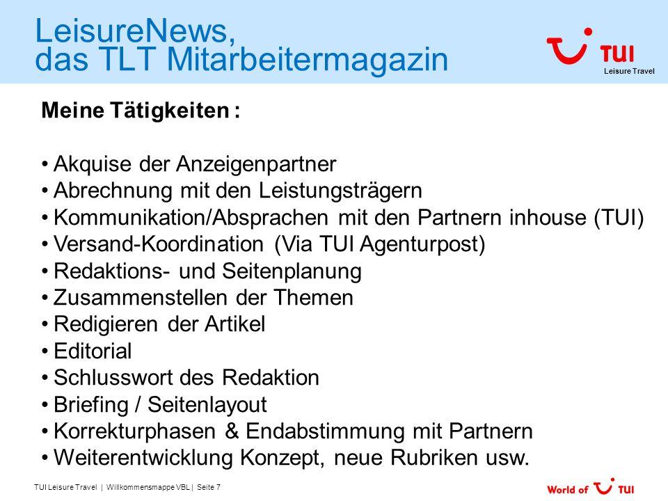 LeisureNews, das TLT Mitarbeitermagazin