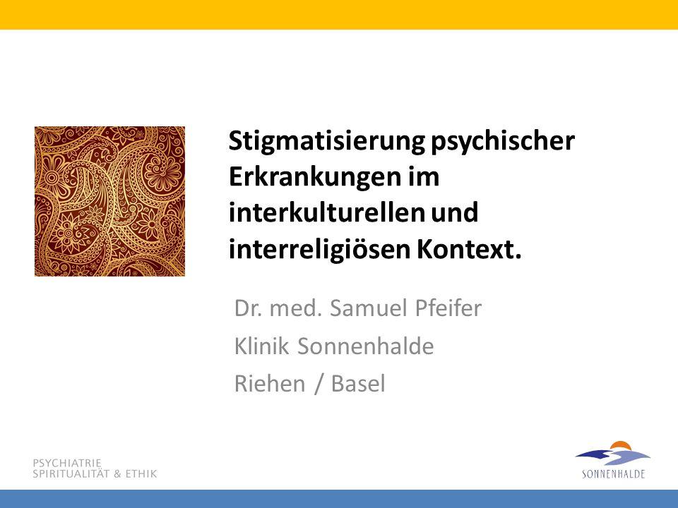 Dr. med. Samuel Pfeifer Klinik Sonnenhalde Riehen / Basel