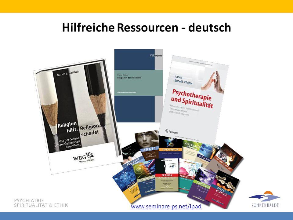 Hilfreiche Ressourcen - deutsch