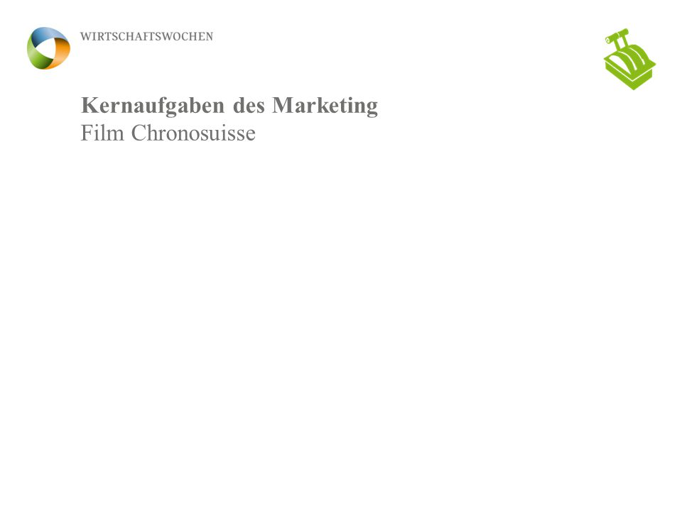 Kernaufgaben des Marketing