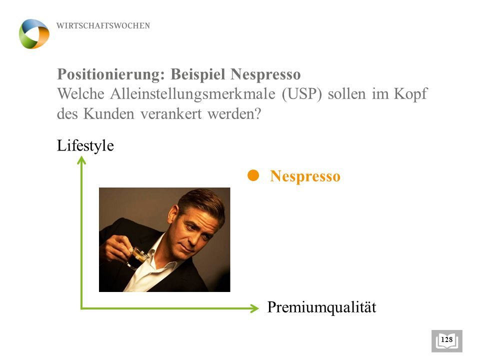 Positionierung: Beispiel Nespresso