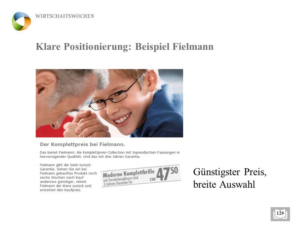 Klare Positionierung: Beispiel Fielmann
