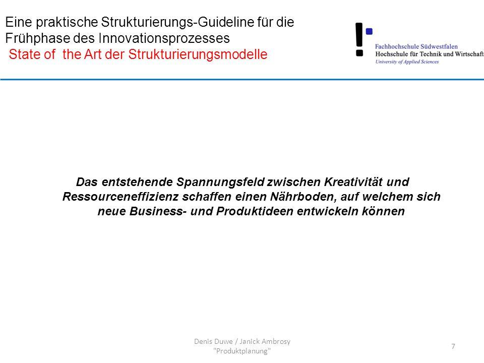 Denis Duwe / Janick Ambrosy Produktplanung