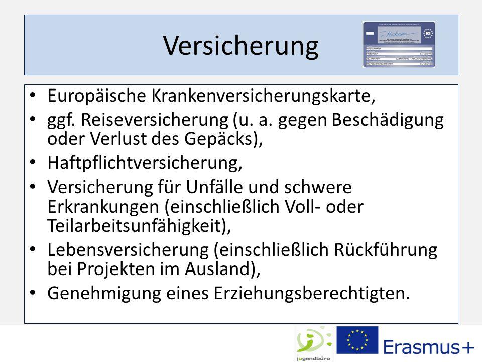 Versicherung Europäische Krankenversicherungskarte,