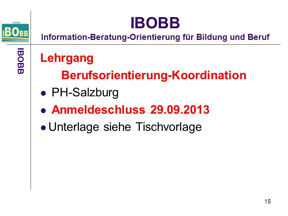 IBOBB Information-Beratung-Orientierung für Bildung und Beruf