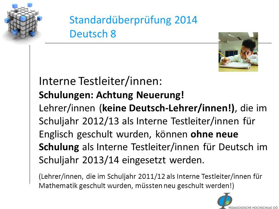 Standardüberprüfung 2014 Deutsch 8