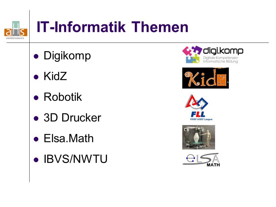 IT-Informatik Themen Digikomp KidZ Robotik 3D Drucker Elsa.Math