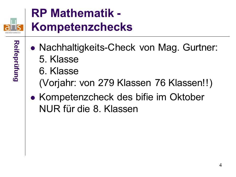 RP Mathematik - Kompetenzchecks