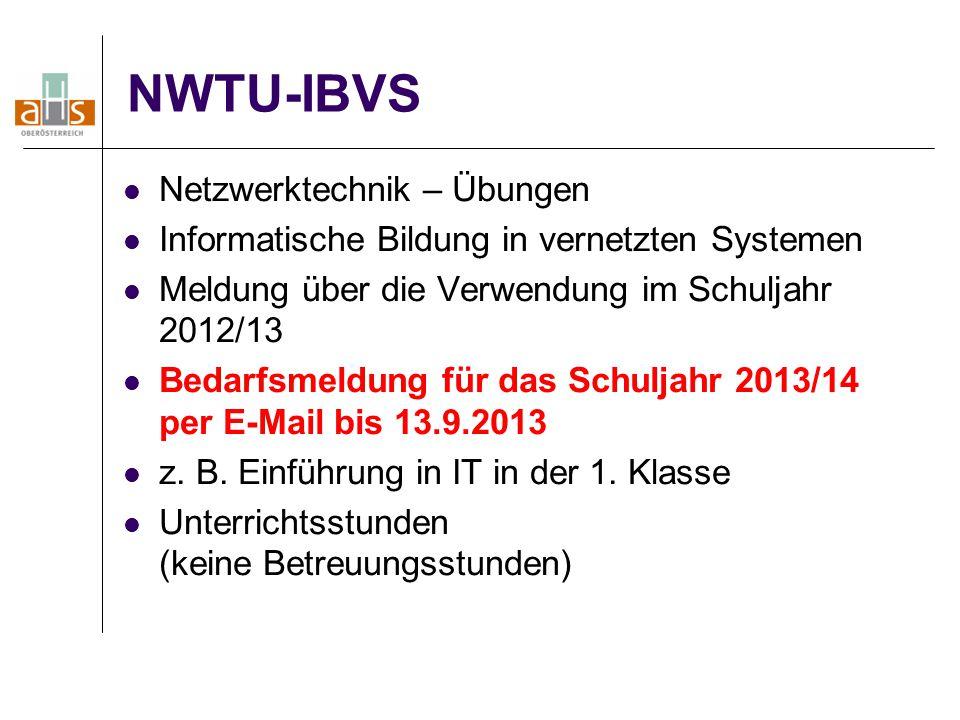 NWTU-IBVS Netzwerktechnik – Übungen