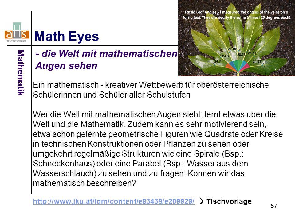 Math Eyes - die Welt mit mathematischen