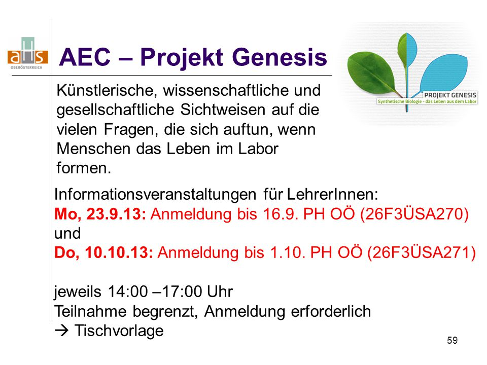AEC – Projekt Genesis