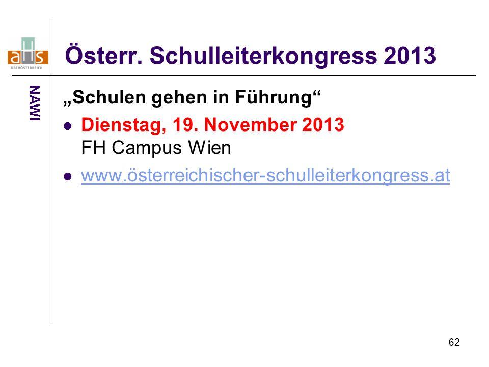 Österr. Schulleiterkongress 2013