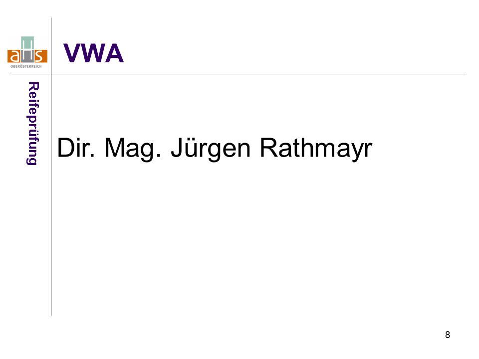 Dir. Mag. Jürgen Rathmayr