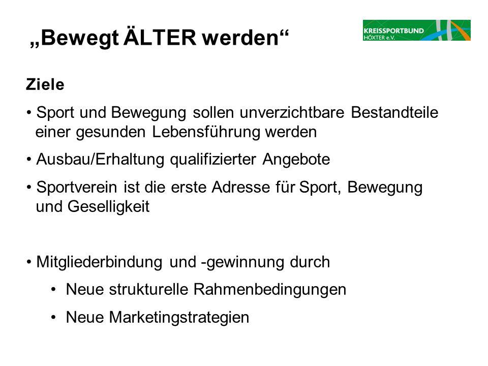 """""""Bewegt ÄLTER werden Ziele"""