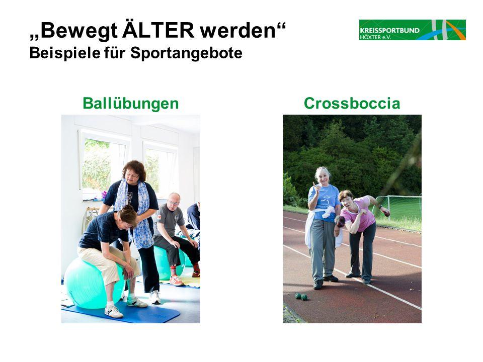 """""""Bewegt ÄLTER werden Beispiele für Sportangebote"""